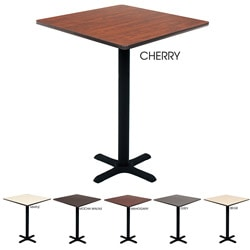 Regency Bar High Lunchroom 30-inch Square Table