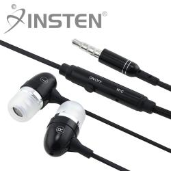 INSTEN Black 3.5mm In-ear Stereo Headset with ON/ OFF switch
