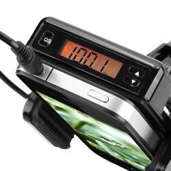 All-in-One FM Transmitter with 3.5mm Audio Cable and Microphone