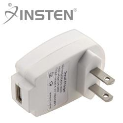 INSTEN Universal White USB Travel Charger Adapter