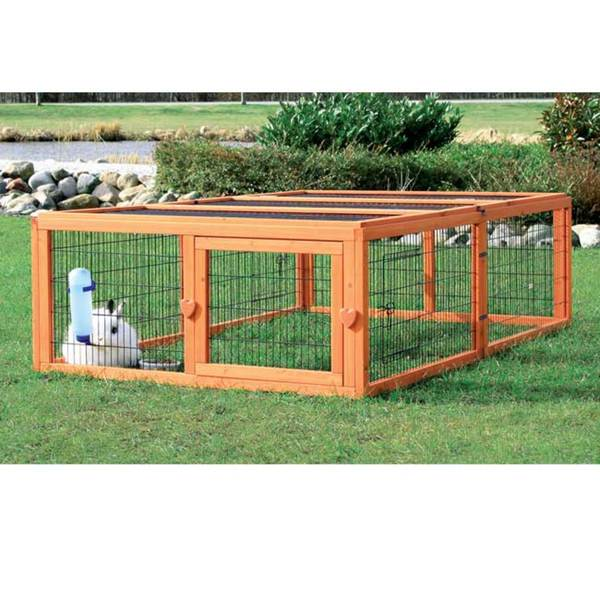 Large mesh covered new puppy dog cat pet animal cage for Outside covered dog kennels