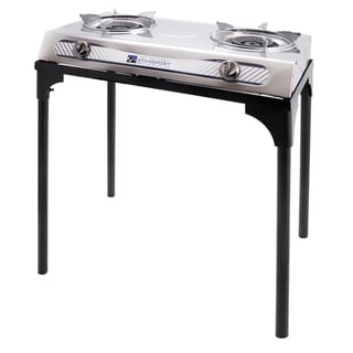 Stansport Stainless Steel 2-burner Stove with Stand