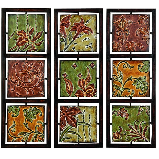 Milan Flowers and Vines Metal Wall Art