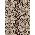 Brilliance Damask Brown Area Rug (7'9 x 11')