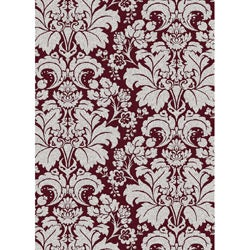 Brilliance Damask Eggplant Area Rug (7'9 x 11')