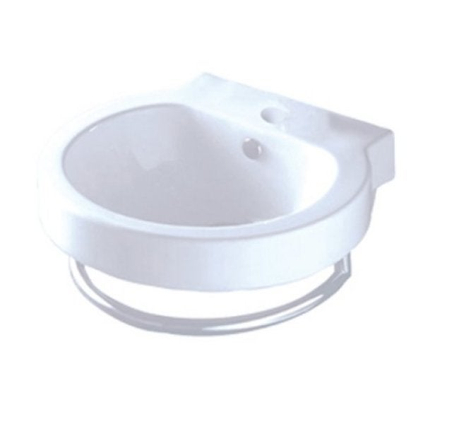 China Sink : Vitreous China Wall-mount Vessel Sink - 13814507 - Overstock.com ...