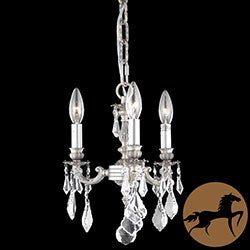 Christopher Knight Home Crystal 3-light Pewter Chandelier