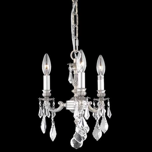 Somette Crystal 3-light Pewter Chandelier