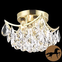 Christopher Knight Home Flush-Mount Gold/Crystal Four-Light Chandelier