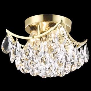 Christopher Knight Home Flush-Mount Gold/Crystal Four-Light Chandelier