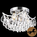Christopher Knight Home Crystal Four-Light Chrome Indoor Chandelier