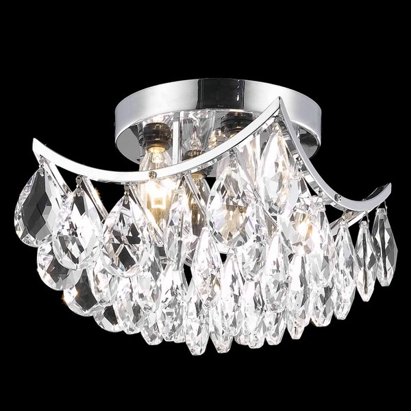 Somette Crystal Four-Light Chrome Indoor Chandelier