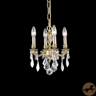 Christopher Knight Home Crystal 4-light French Gold Chandelier