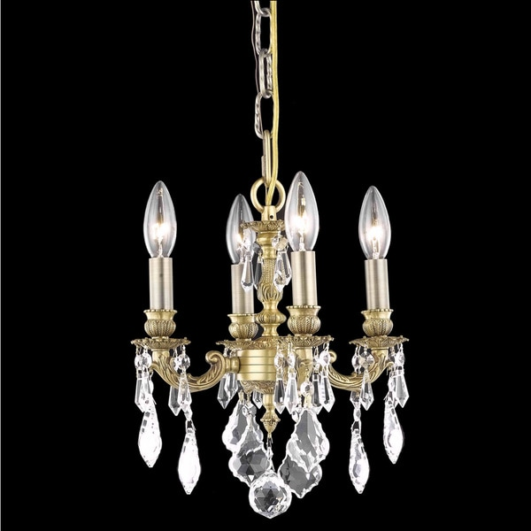 Somette Crystal 4-light French Gold Chandelier