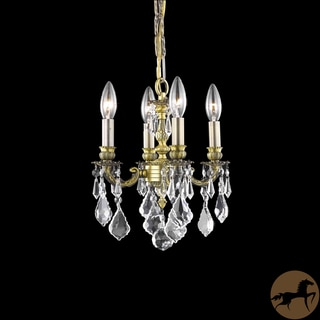 Christopher Knight Home Crystal 4-light Antique Bronze Chandelier