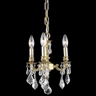 Christopher Knight Home Crystal 3-light French Gold Chandelier