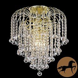 Christopher Knight Home Crystal 4-light Gold Chandelier