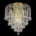 Somette Crystal 4-light Gold Chandelier