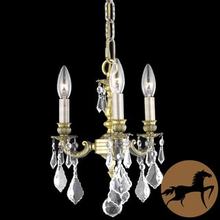 Christopher Knight Home Crystal 3-light Antique Bronze Chandelier