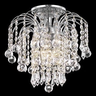 Somette 12-inch Crystal 3-light Chrome Chandelier