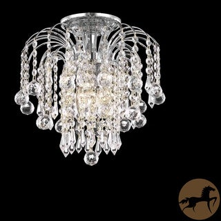 12-inch Christopher Knight Home Crystal 3-light Chrome Chandelier