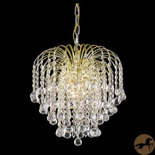 Christopher Knight Home Hanging Gold/Crystal Four-Light Chandelier