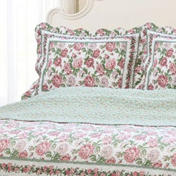 Rose Bush Full/ Queen-size Quilt Set