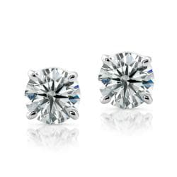 14k Gold 1/2ct TDW Certified Diamond Stud Earrings (G-H, VS1-VS2)