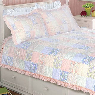 Purple Rose Twin-size Quilt Set