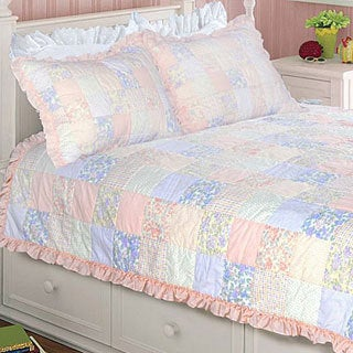 Purple Rose Twin-size 2-piece Quilt Set