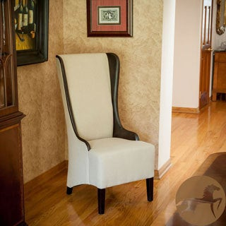 Christopher Knight Home High-Back Beige Fabric Chair