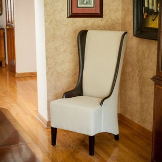 Bacall High-back Beige Fabric Chair