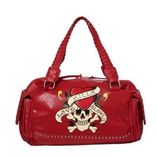 Ed Hardy 'Love Kills Slowly' Shoulder Bag