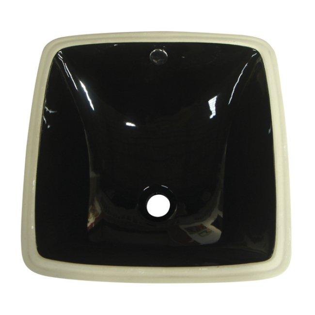 Vitreous China Black Undermount Bathroom Sink