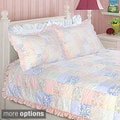 Purple Rose Full/ Queen-size 3-piece Quilt Set