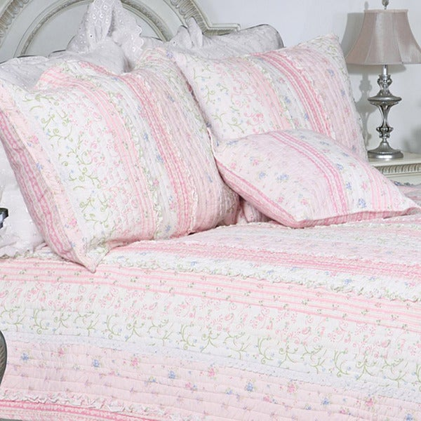 Romantic Chic Lace Twin-size 2-piece Quilt Set