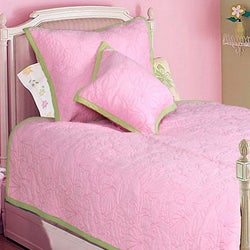 Pink Ocean Creatures Girl's Twin-size 2-piece Quilt Set