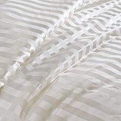 Chrysalife Silk-filled Stripe Jacquard Silk King-size Comforter
