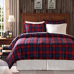 Premier Comfort Ashland Plaid Full/ Queen-size 3-piece Down Alternative Comforter Set