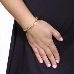 PalmBeach Goldtone Byzantine Chain Bracelet Tailored