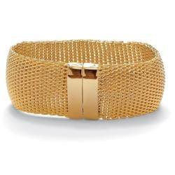 PalmBeach Goldtone Mesh Bangle Bracelet Tailored