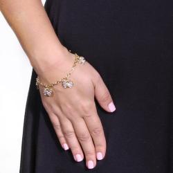 PalmBeach 18k Goldplated Filigree Butterfly Charm Bracelet Tailored