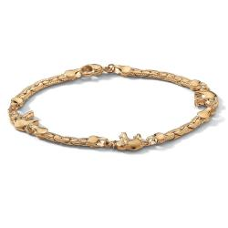 Toscana Collection 14k Goldplated Elephant Station Anklet