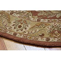 Nourison Hand-tufted Caspian Rust Wool Rug (6' Round)