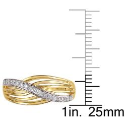 Miadora 10k Yellow Gold 1/6ct TDW Diamond  Ring (G-H, I2-I3)