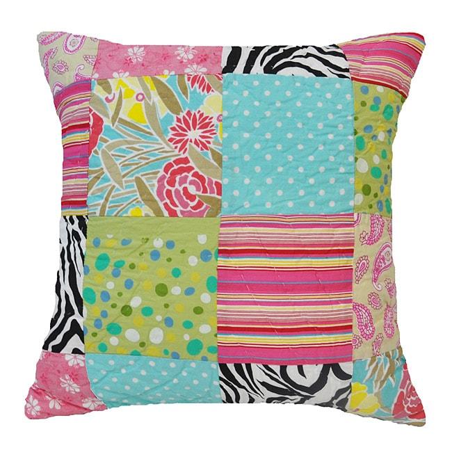 Overstock Decorative Throw Pillows : Zebra Patchwork Decorative Pillow - Overstock Shopping - Great Deals on Cottage Home Throw Pillows