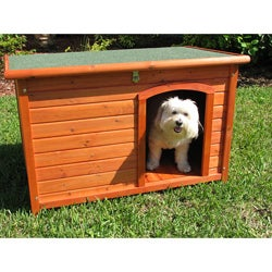 Crown Pet Products Medium Cedar Slant Roof Pet House