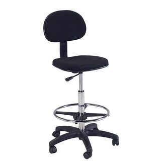 Martin Stiletto Black Drafting Height Chair