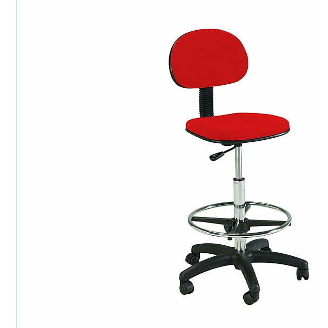 Martin Stiletto Red Drafting-height Chair with Pneumatic Lift