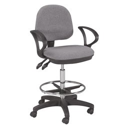 Martin Vesuvio Grey Ergonomic Drafting Height Chair with Foot Ring